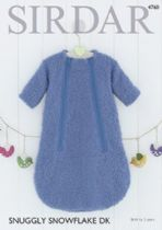 Sirdar Snuggly Snowflake DK - 4760 Baby's Sleeping Bag Knitting Pattern